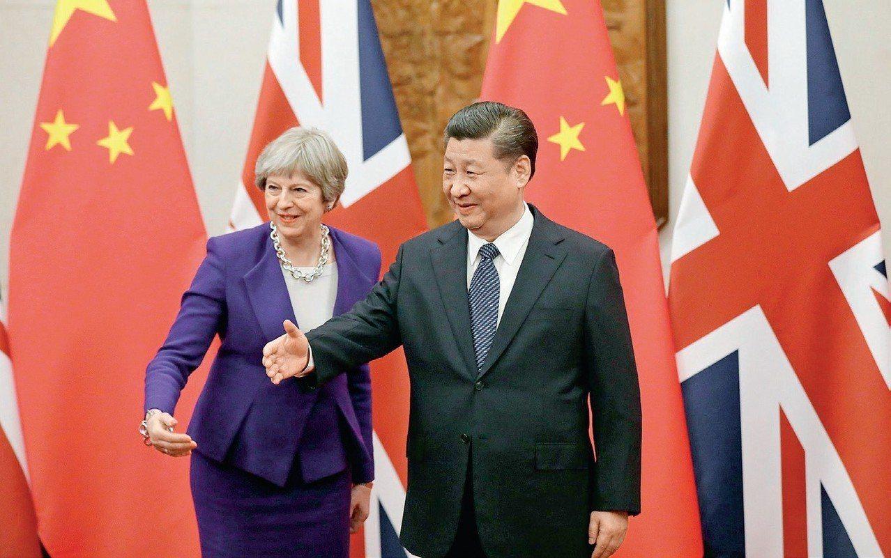 2018年2月初,習近平在北京會見來華正式訪問的英國首相梅伊,透露出中國的國際地...