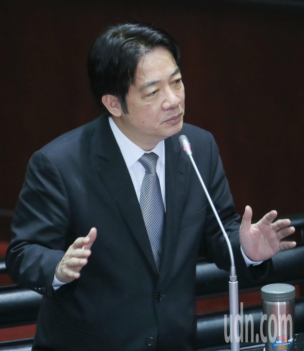 行政院長賴清德上午在立法院答詢時說,中國政策不管是惠台政策或是九二共識等,最後目...
