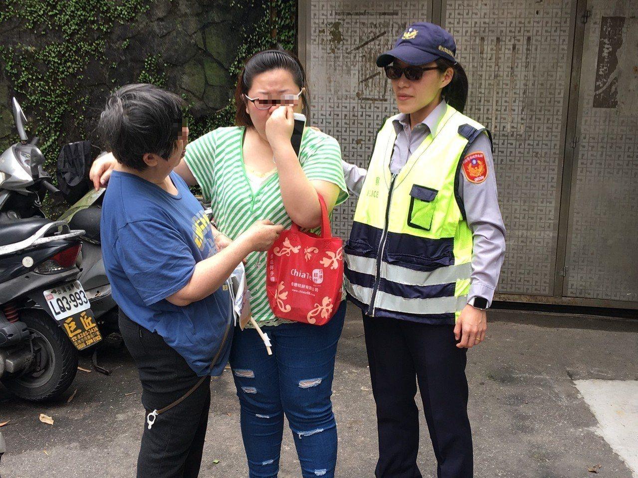 徐女一見到母親就大哭。記者江孟謙/翻攝