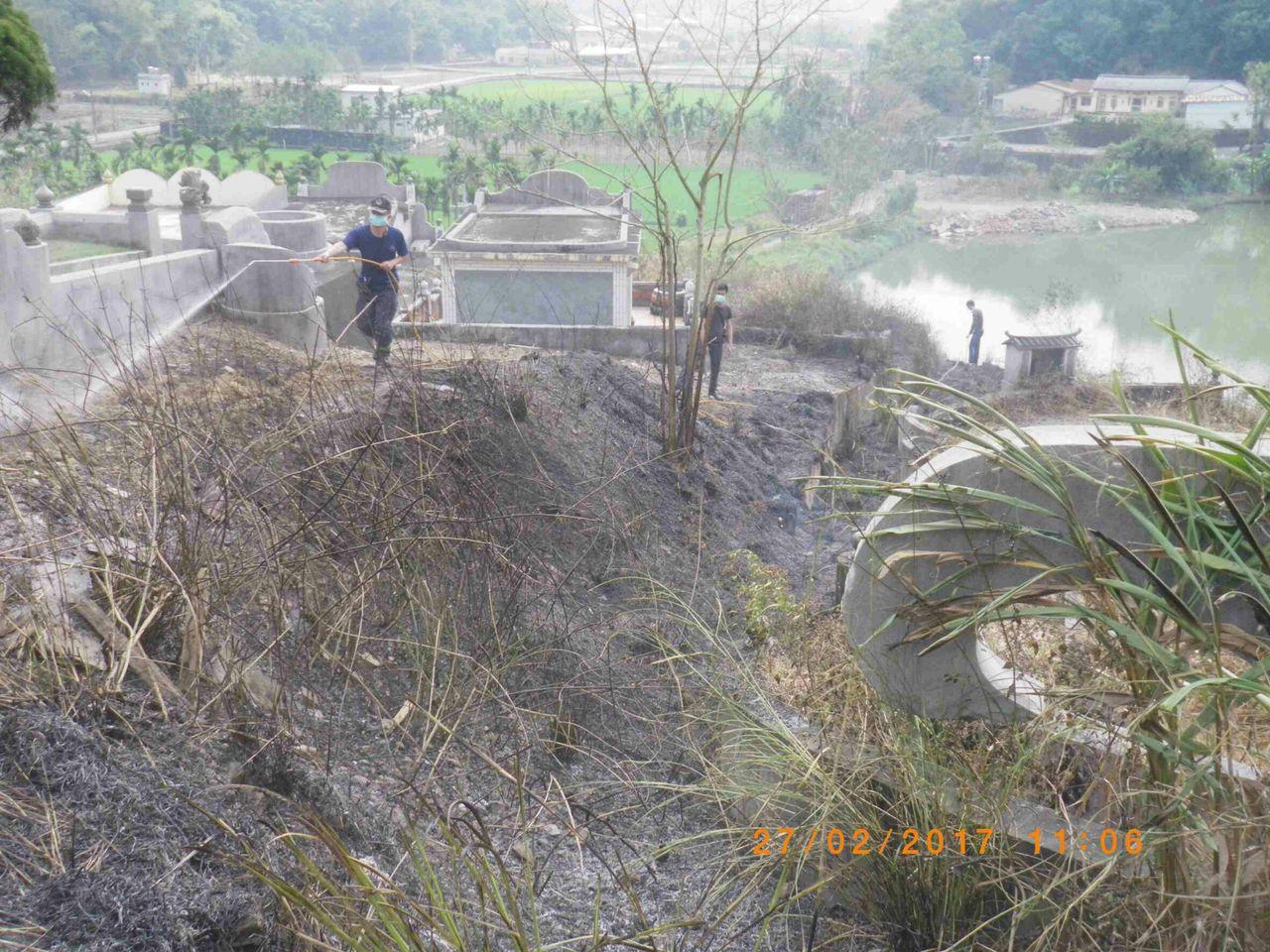 進入民間掃墓季節,因掃墓引起的火災層出不窮。記者徐白櫻/翻攝