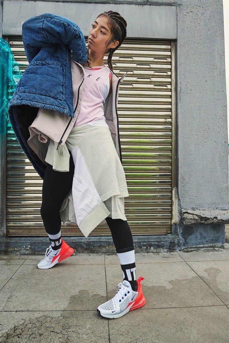 Rima瑞瑪席丹演繹新款Air Max鞋的大膽、創新精神。圖/Nike提供