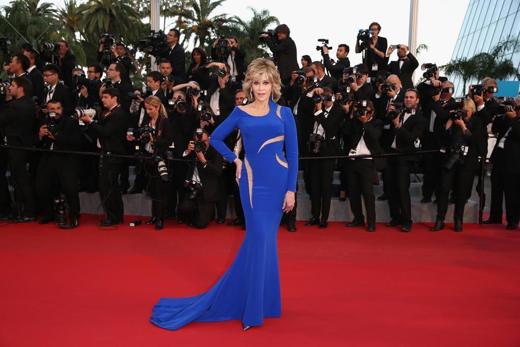 珍芳達熱愛Versace禮服。圖/Versace提供