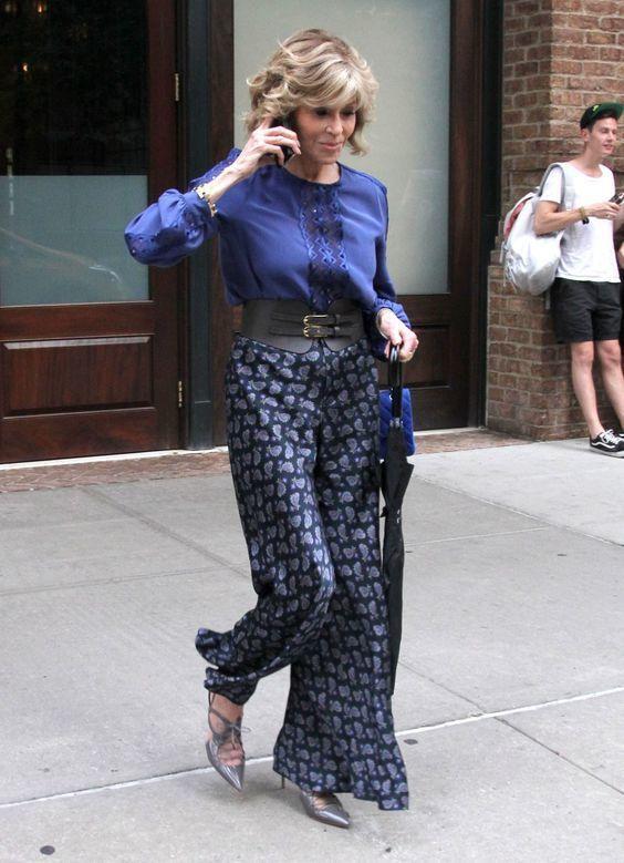 珍芳達的私服造型也非常有型。圖pinterest.com
