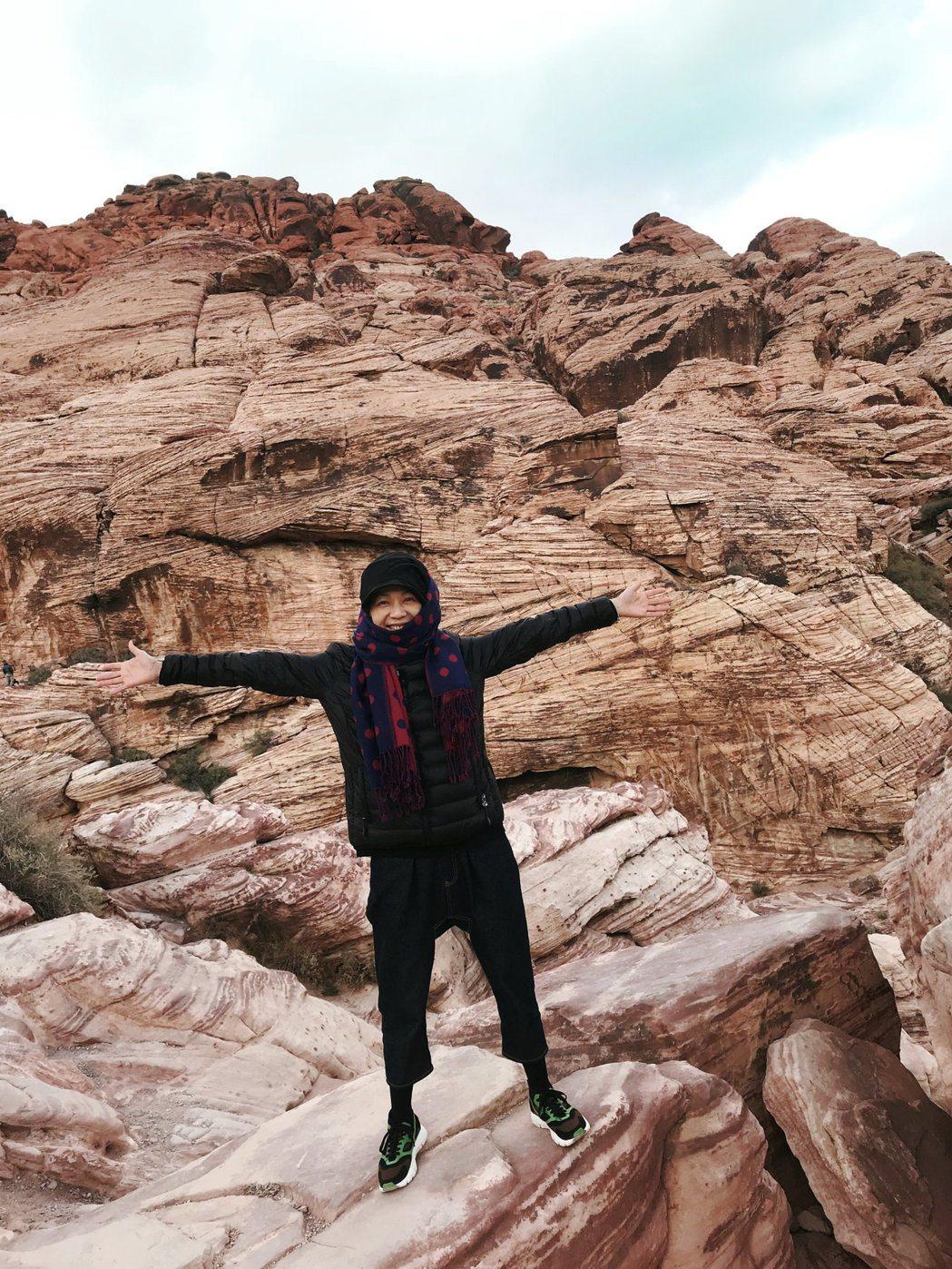 萬芳遊美國大峽谷。圖/原點概念提供