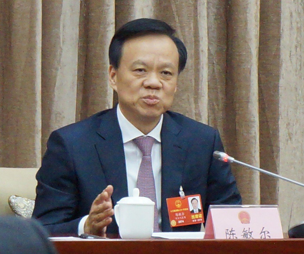 重慶市委書記陳敏爾今天在審議政府工作報告時指出,薄熙來、孫政才兩人的腐敗問題是方...