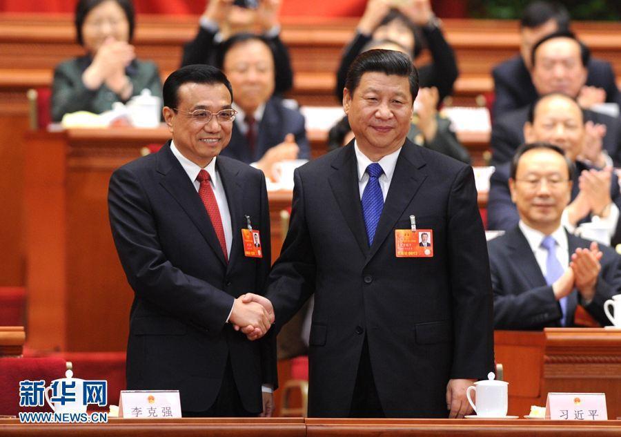 2013年3月15日,大陸12屆全國人大一次會議投票表決,決定由李克強出任中國國...