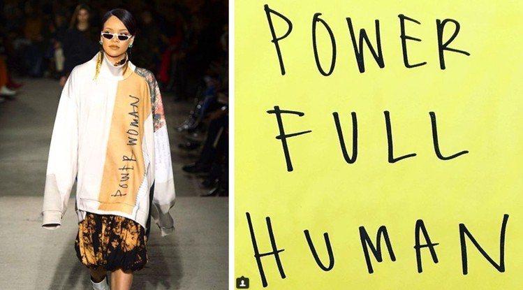 英國設計師Louise Gray的手寫風標語「Power Full Human」...