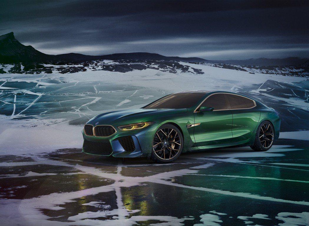 圖為BMW Concept M8 Gran Coupe。 摘自BMW