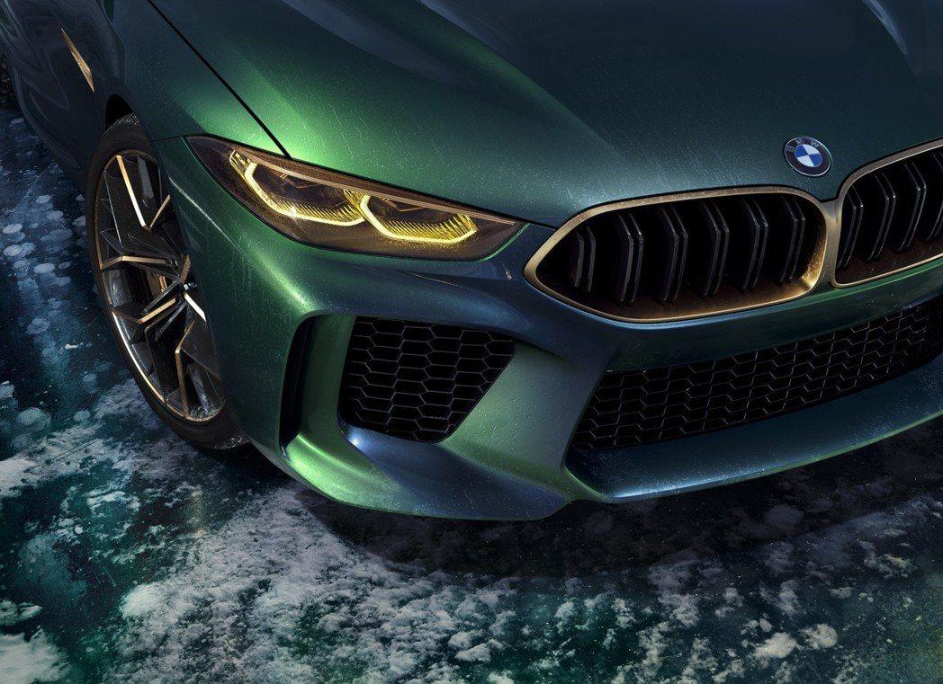 既前衛又不會太過的設計。圖為BMW Concept M8 Gran Coupe。 摘自BMW