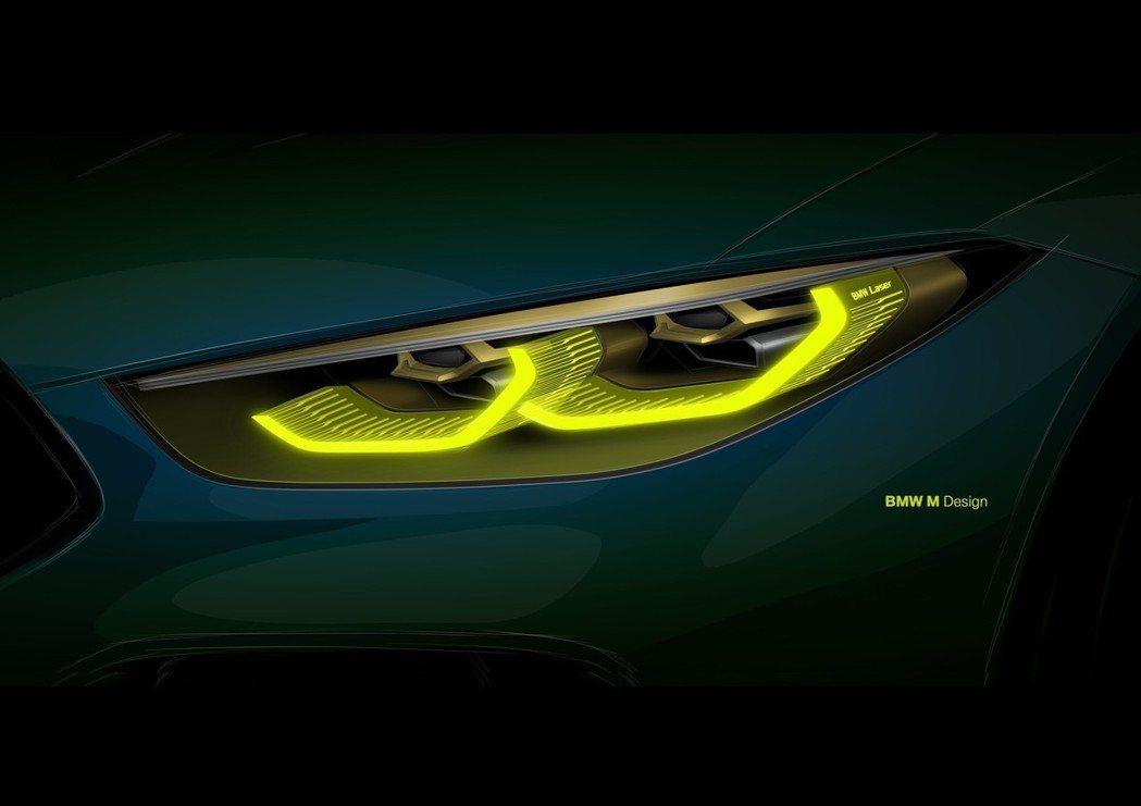 採用與M8 GTE一樣設定的黃色六角形LED頭燈。 摘自BMW
