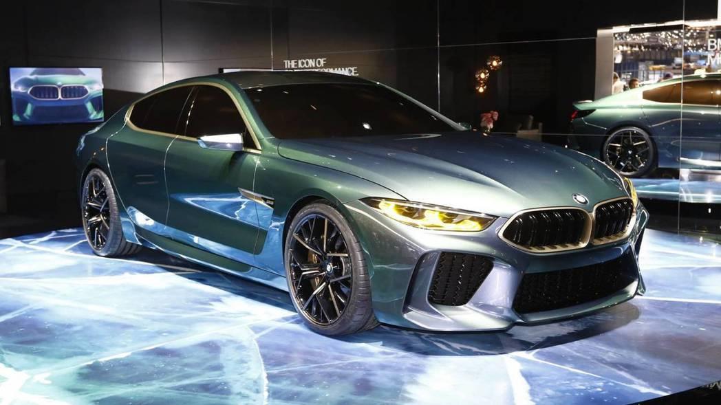 BMW Concept M8 Gran Coupe的新車漆,還能因光照角度不同而變色。 摘自Motor 1