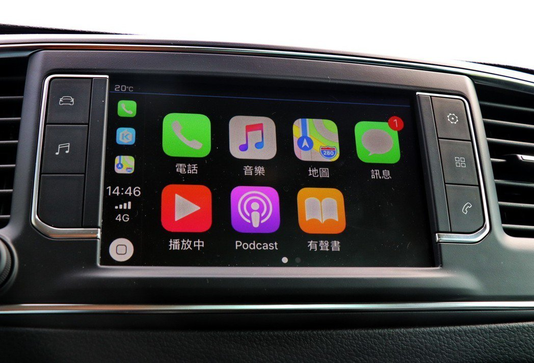 可支援Apple CarPlay、Android Auto、Mirrow Link等功能。 記者陳威任/攝影
