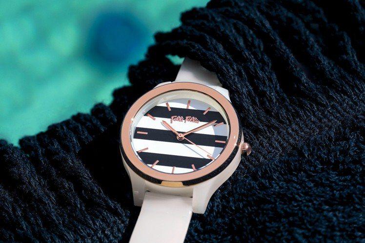Folli Follie CLUB RIVIERA系列腕表,4,190元。圖/F...