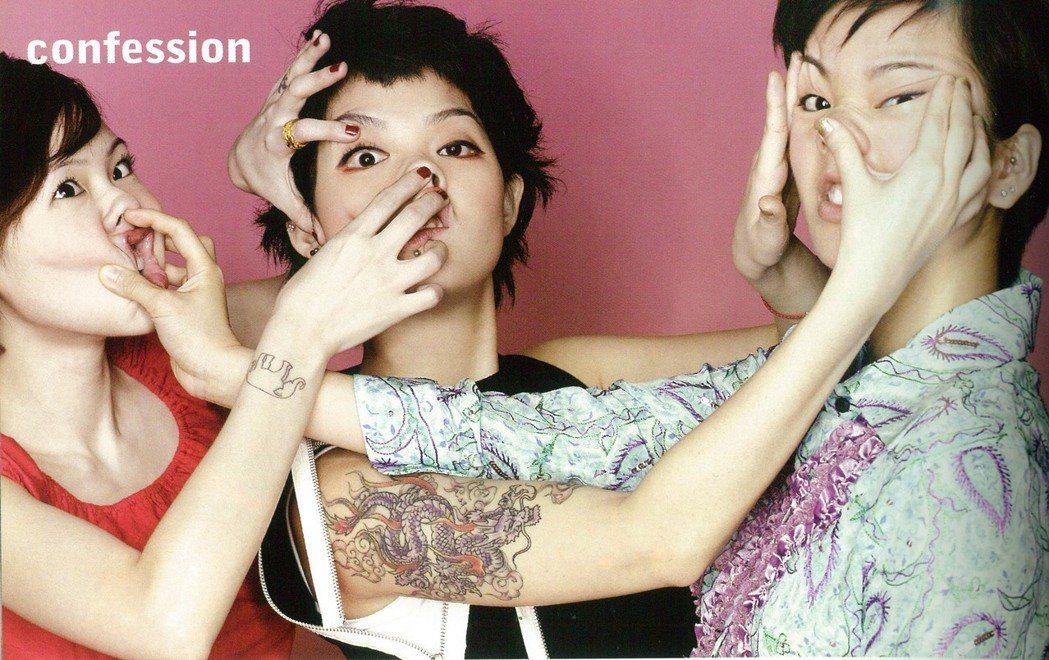 小S(左起)、范曉萱、阿雅2001年就曾為雜誌合體。圖/Marie Claire...