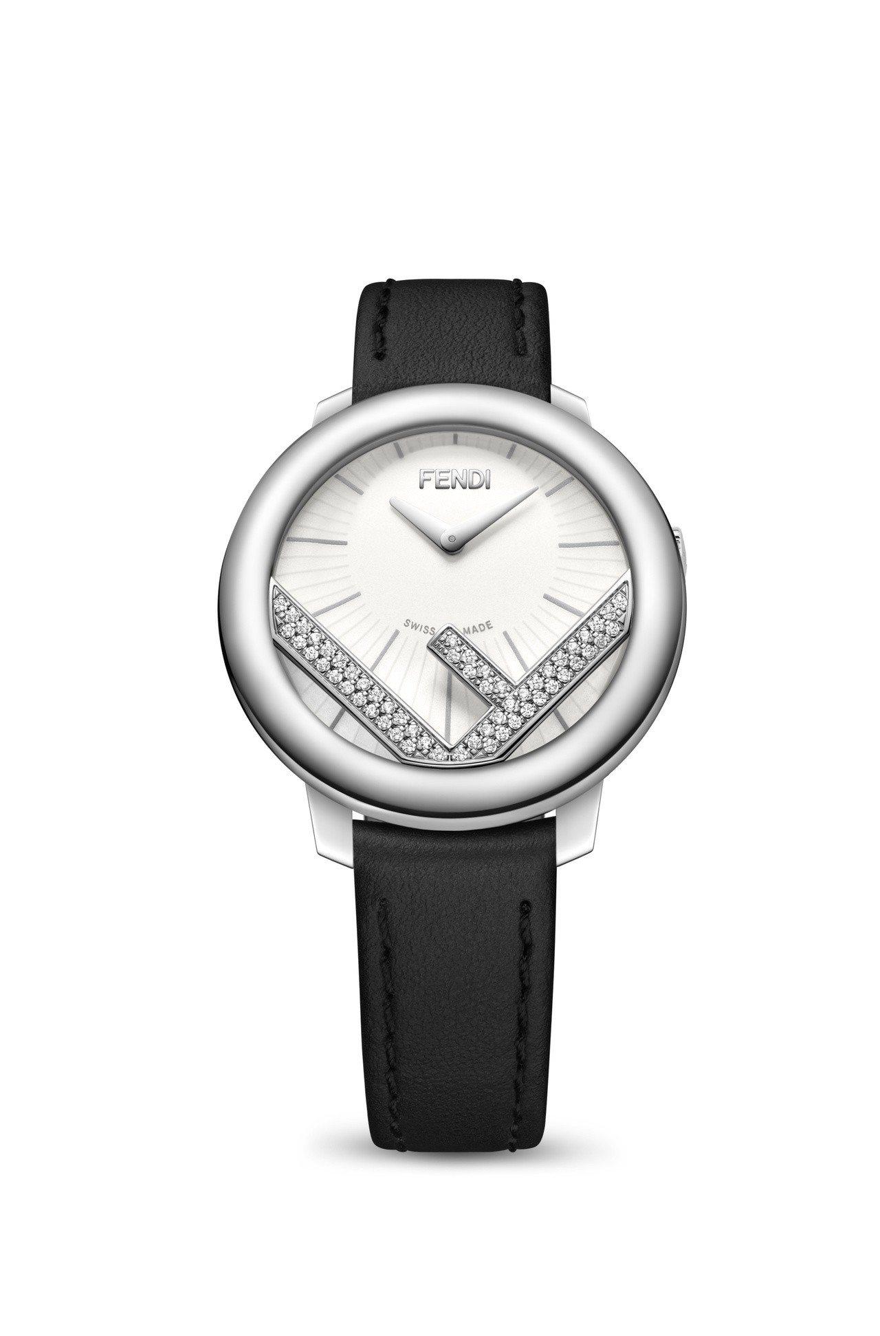 Fendi全新Run Away系列女表,搭配鑲嵌鑽石F標誌設計,價格未定。圖/F...