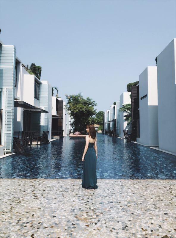 周曉涵去泰國度假。圖/周曉涵提供