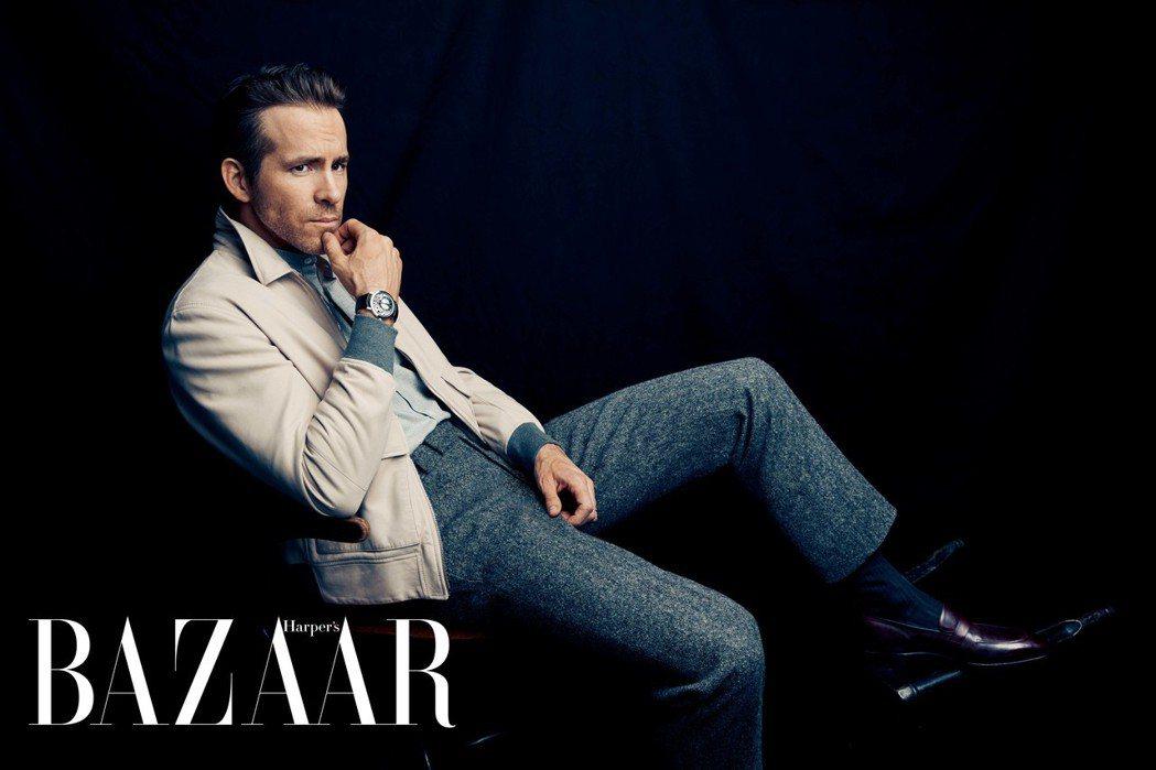 萊恩雷諾斯(Ryan Reynolds)自曝是「女兒奴」。圖/Harpers B