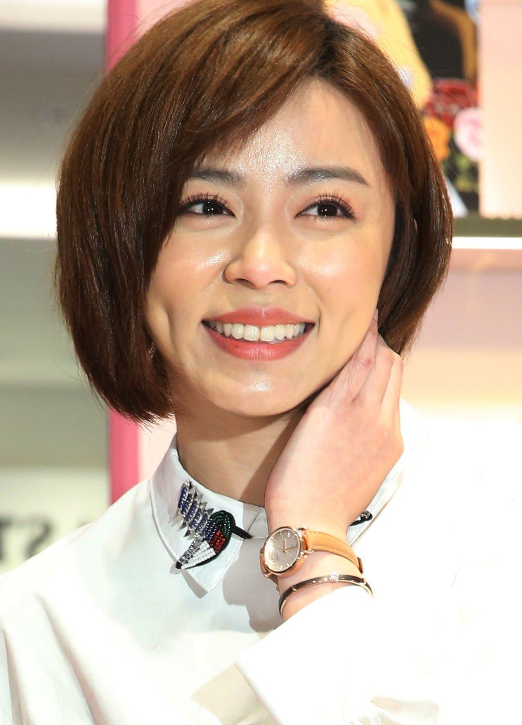 王瞳代言韓國時尚潮牌High Cheeks進駐台灣活動。記者林俊良/攝影
