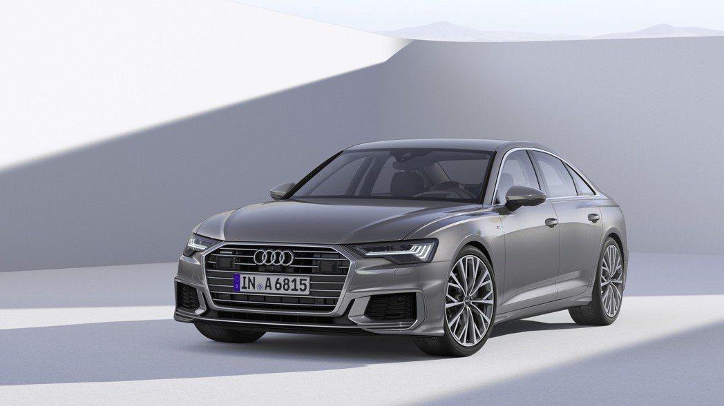 全新第八代 Audi A6 於日內瓦車展正式亮相,首批推出3.0升汽油及柴油車型,並將於今年六月在德國正式開賣。 Audi 提供