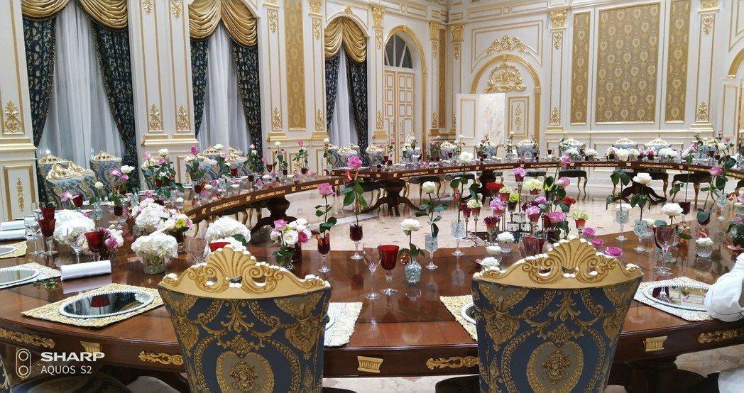 史瓦濟蘭國王皇宮宴會廳首次對外亮相。 明道大學/提供