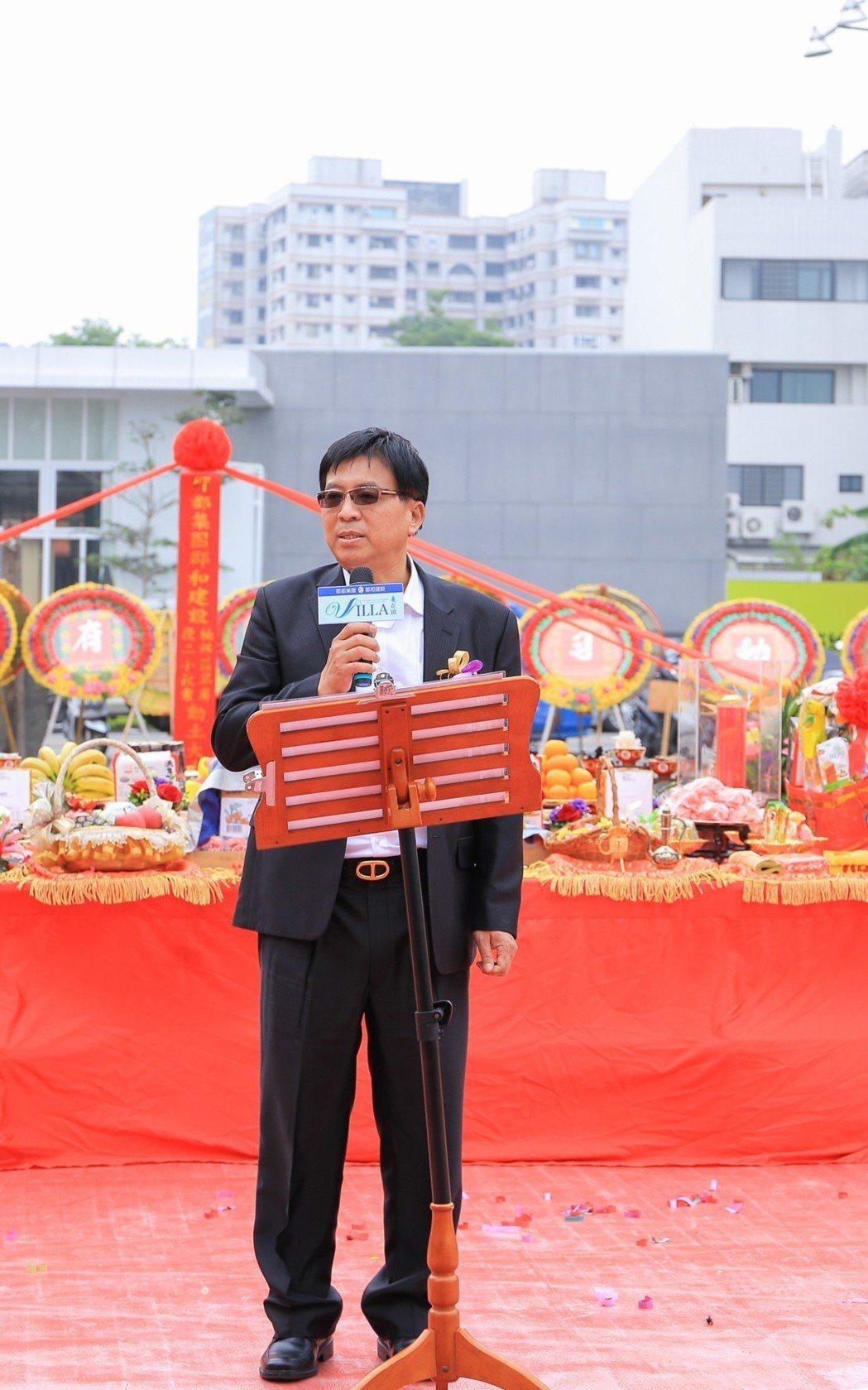 郡都集團總裁唐榮華說,該公司三年後總銷可達100億。 攝影/張世雅