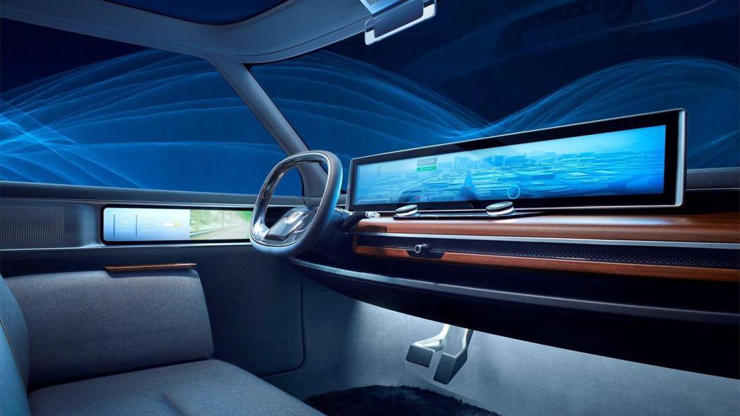 Honda Urban EV Concept 車室。 摘自Honda