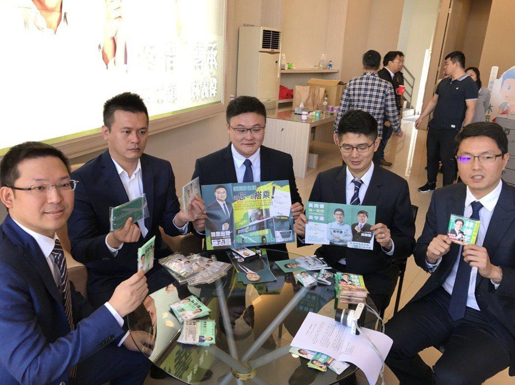 民進黨新潮流5位參選人一起造勢,聯合參選。 記者陳秋雲/攝影