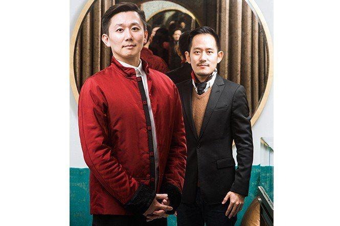 王耀練(左)與汪智偉以獨特的設計,將GALENE打造為台灣獨特的設計品牌。(攝影...