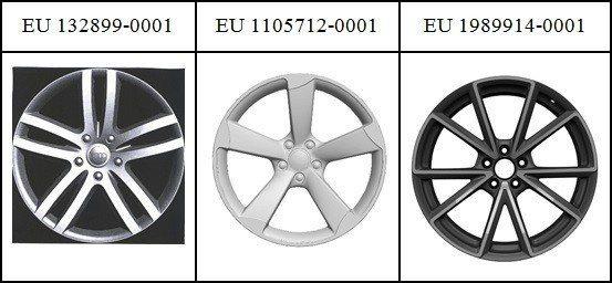 圖1:Audi集團在EUIPO的汽車輪圈註冊設計
