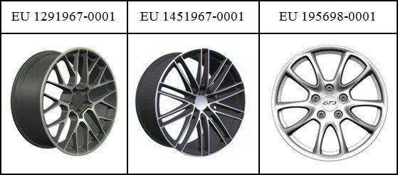 圖3:Porsche集團在EUIPO的汽車輪圈註冊設計