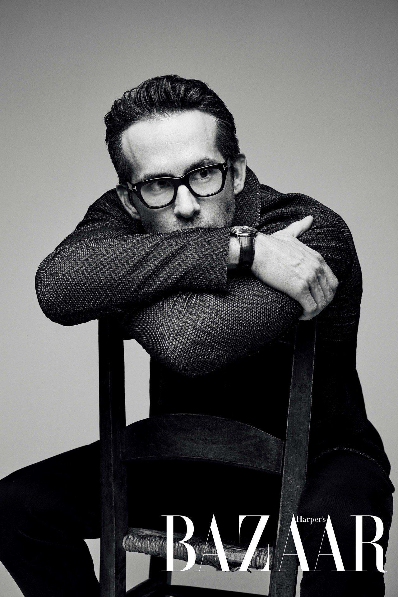 外套、褲,Giorgio Armani;眼鏡,Tom Ford;腕錶,Piage...