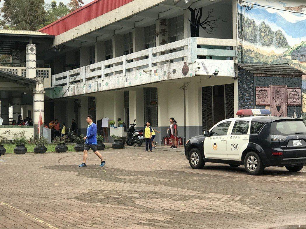 武潭國小和平分校稍早傳出墜機事件。記者蔣繼平/攝影