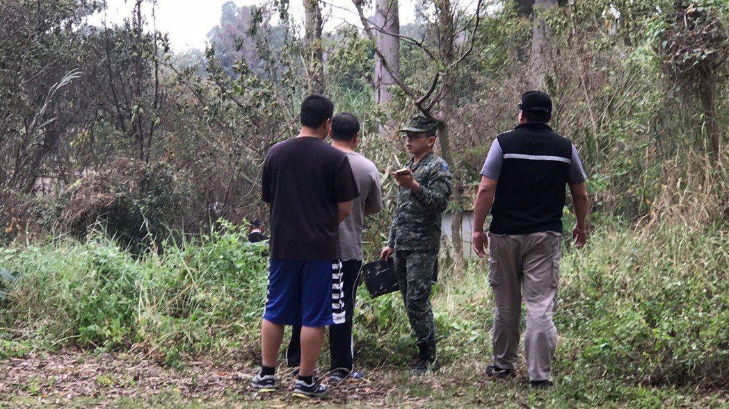 軍警封鎖現場調查。記者蔣繼平/攝影
