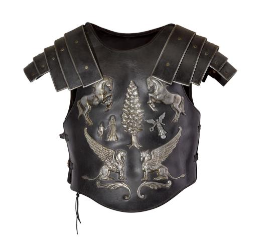 羅素克洛在「神鬼戰士」穿過的盔甲。圖/摘自蘇富比官網