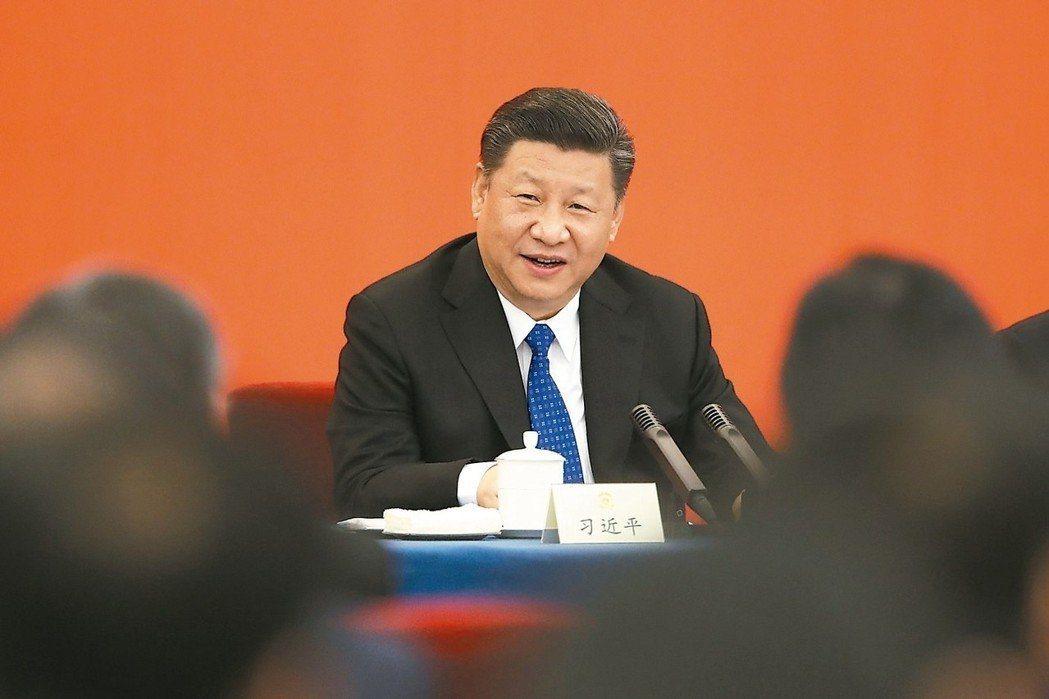 大陸國家主席習近平昨天首度公開表態「完全贊同修憲」 圖/新華社