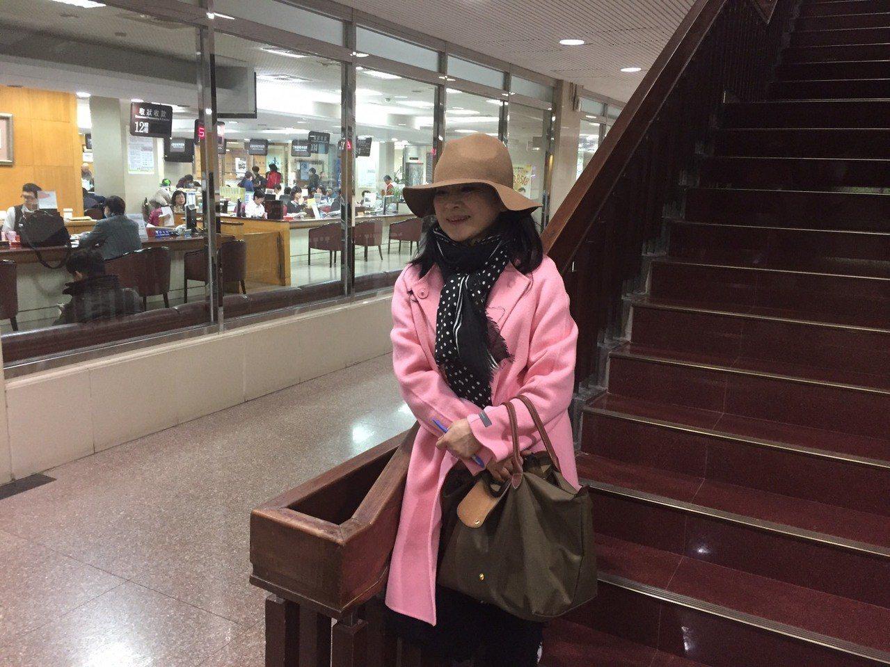 周玉蔻被王炳忠自訴洩密、誹謗今天到法院出庭。記者王聖藜/攝影