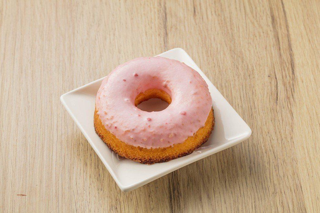 草莓甜甜圈,售價30元。圖/全聯提供