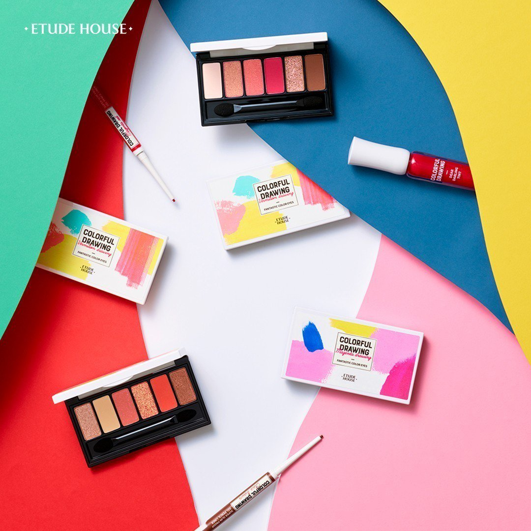 ETUDE HOUSE「彩色藝廊」系列以繽紛生動的水彩畫為設計靈感。圖/ETUD...