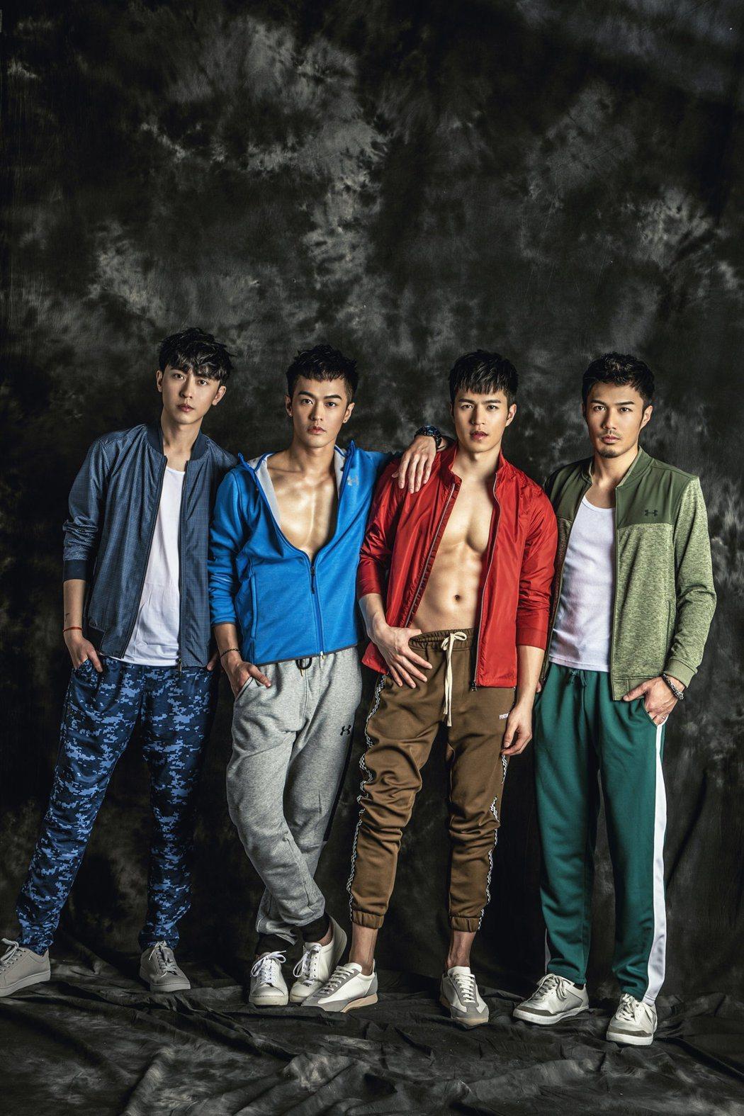 由(左起)盧煥剛、鄭喬意、陳奕廷、潘睿睿組成的M4,出專輯前就各自擁有眾多的網粉...