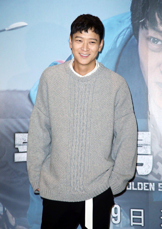 韓星姜棟元來台宣傳新片。記者陳瑞源/攝影