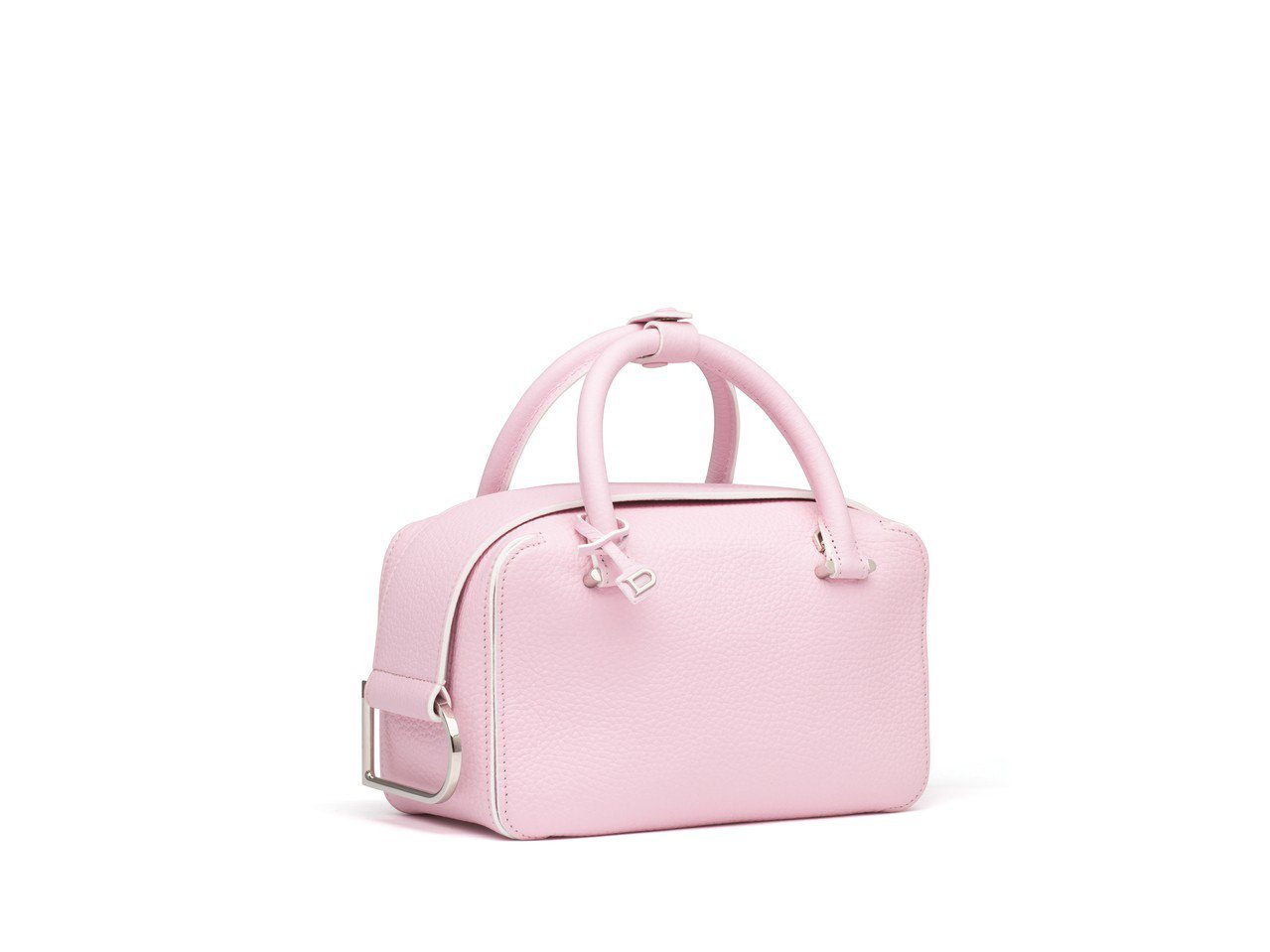 Cool Box玫瑰粉紅牛皮小型肩背包,各售96,300元。圖/DELVAUX提...