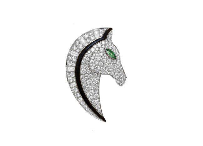 BVLGARI FESTA義式慶典系列Cavallo駿馬造型頂級鑽石胸針,頂級白...