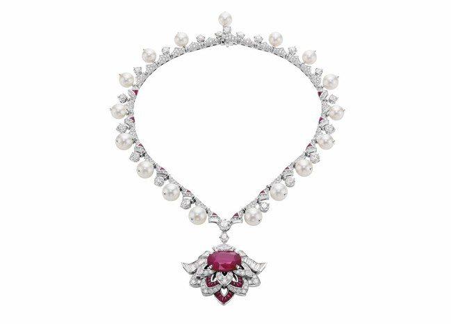 VLGARI FESTA公主慶典系列Cuore Di Roma頂級紅寶石鑲鑽項鍊...