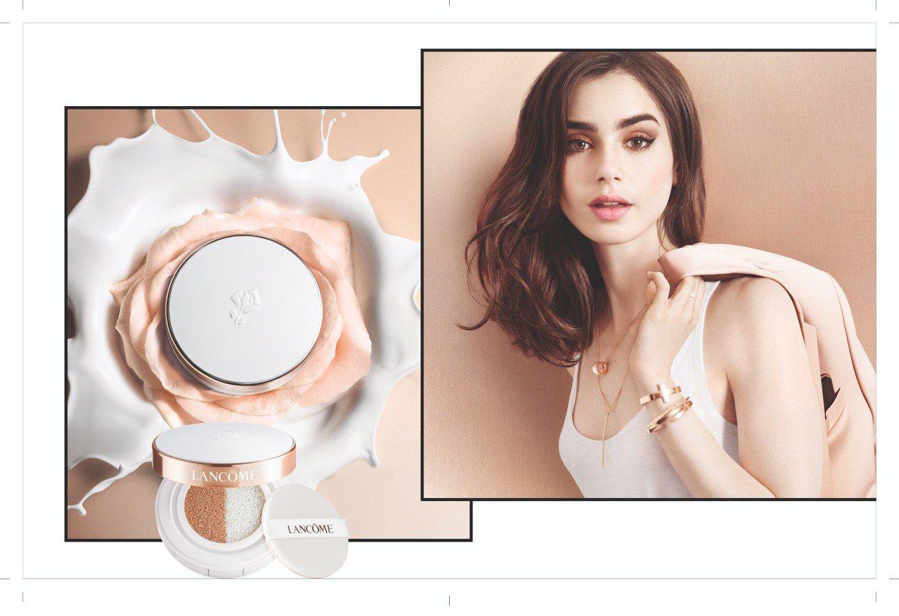 蘭蔻激光煥白裸光氣墊粉餅,注入玫瑰精華與薄荷精粹,給予肌膚清新亮澤。圖/蘭蔻提供