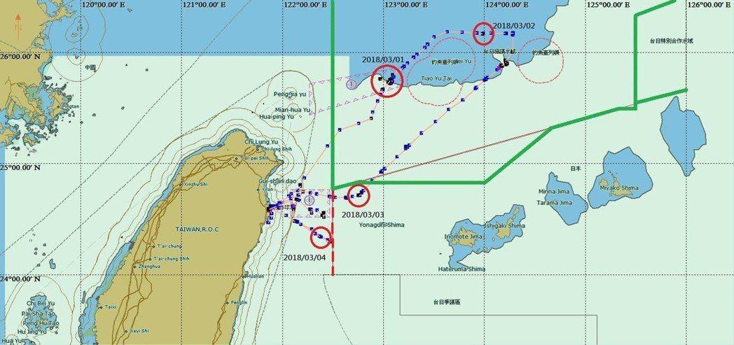 依漁船軌跡圖顯示,「東半球28號」涉及違規情事。 (農委會漁業署提供)