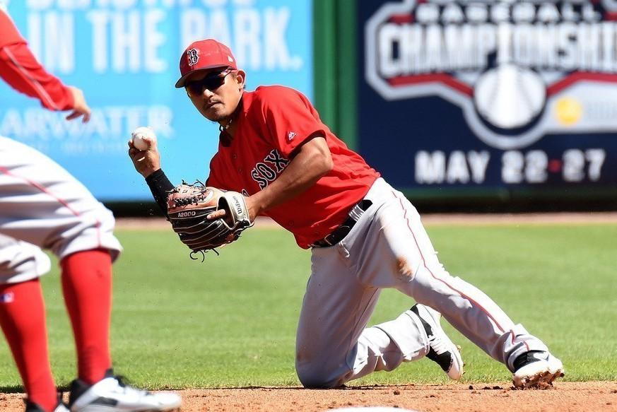 效力紅襪的旅美小將林子偉此役以替補二壘手的身分登場,兩個打數都遭三振,連續5場比...