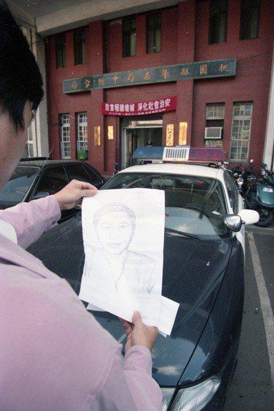 檢警專案調查劉邦友命案,圖為嫌犯素描。 圖/聯合報系資料照片