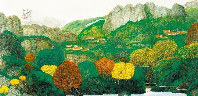 余承堯作品被譽為大器不琢,圖為《山水》。 圖/羅芙奧、香港蘇富比