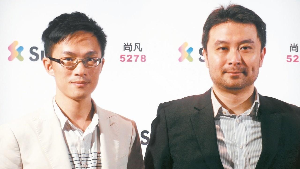 尚凡董事長張家銘(右)。 報系資料照