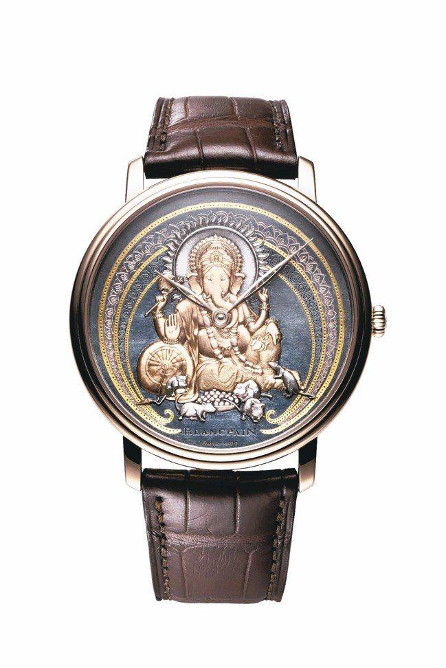 寶鉑藝術大師系列象神腕表,18K紅金材質表殼,Shakudo赤銅表盤,約511萬...